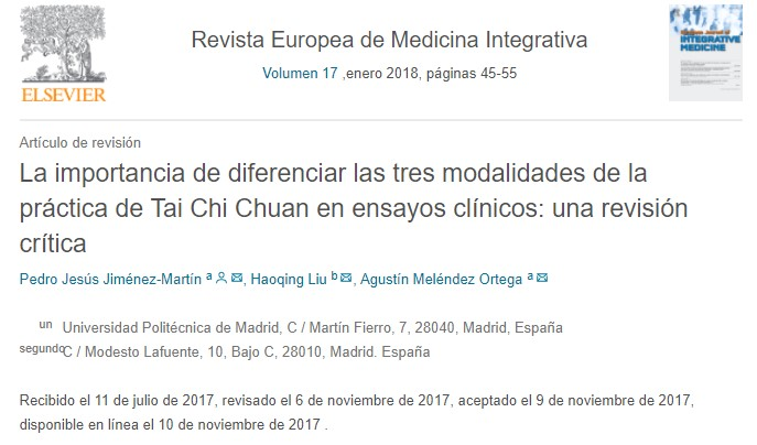 revista europea de medicina integrativa
